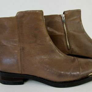 Enzo angiolini  emin  tan leather bootie size 7M